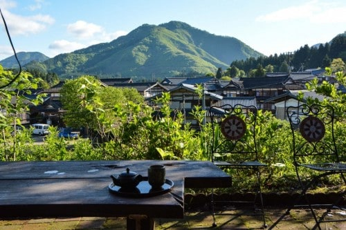 Minshuku Breakfast on the Patio