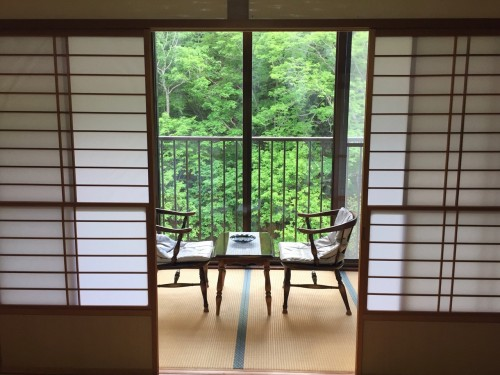My Room at the ryokan in Takayu onsen,Fukushima, Japan.
