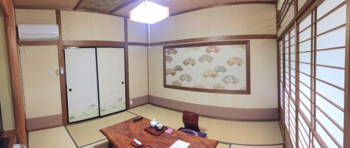 My tatami room at the ryokan in Takayu onsen,Fukushima, Japan.