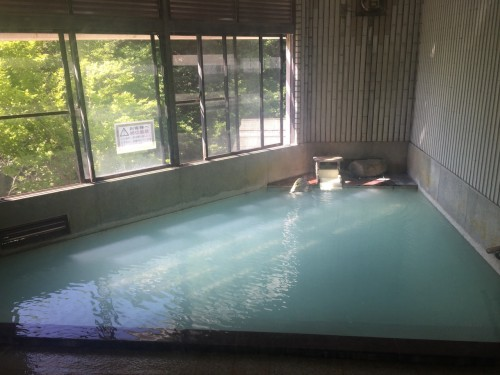 The public bath onsen at the ryokan in Takayu onsen,Fukushima, Japan.