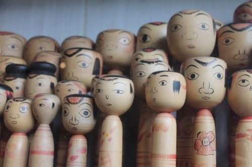 There are a few kokeshi collections at Tsuchiyu Kenbunrokuka, Fukushima , Japan.