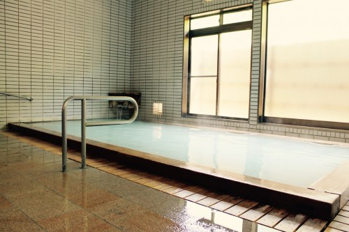 Public Bath 2 at Tamagoyu onsen, Fukushima, Japan.