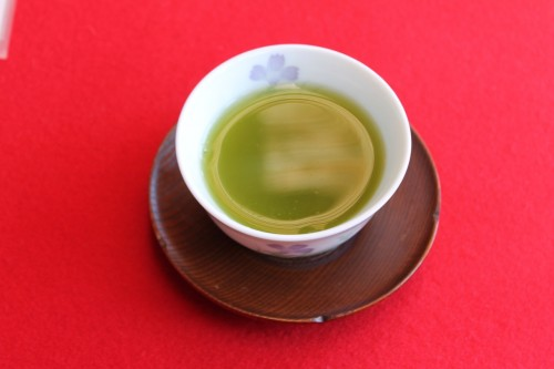 Green Tea at Jorakuen Japanese Garden, Fukushima, Japan.