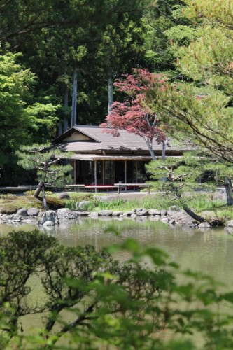 A View of the Teahouse from Across the Pond