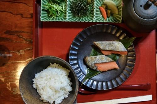 Salmon and Rice at Idutsuya