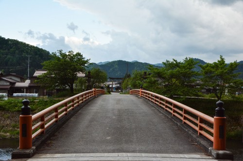 The bridge is in Hida Furukawa, Gifu prefecture.