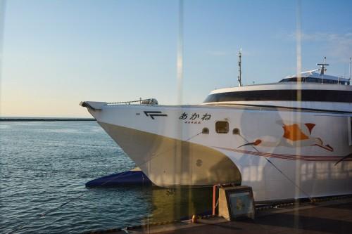 Sado Kisen ferry which goes to Sado island from Niigata mainland