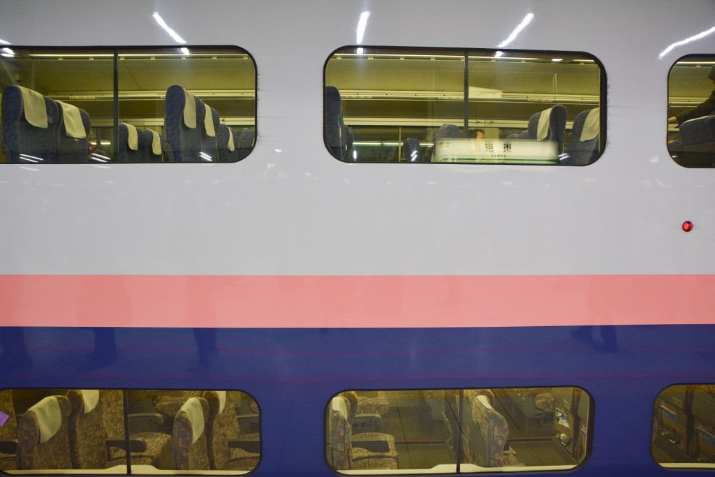 MAX Toki Shinkansen on Joetsu line take you Niigata directly from Tokyo station, Japan.