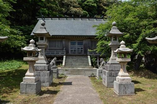 Hakusan Shrine at Shukunegi, Sado island, Niigata, Japan.