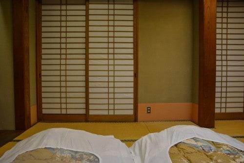 The room of Karatsu Onsen Ryokan Wataya, Karatsu, Saga prefecture, Kyushu.