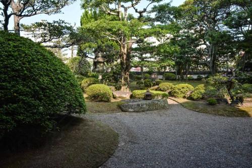 Japanese garden of Karatsu Onsen Ryokan Wataya, Karatsu, Saga prefecture, Kyushu.
