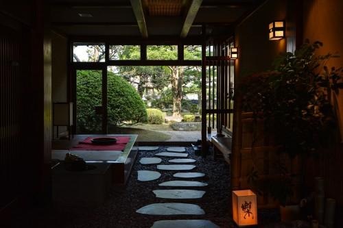 The lobby of Karatsu Onsen Ryokan Wataya, Karatsu, Saga prefecture, Kyushu.