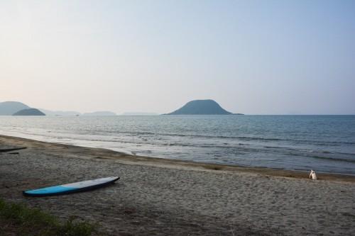Stand up paddle experience at the higashihara beach, Karatsu, Saga.