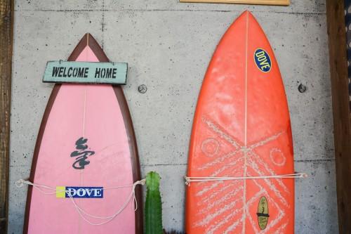 Surfboards on the Beach in Karatsu