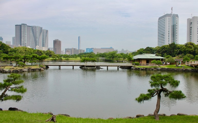 Looking Out Across the Water at Hamarikyu