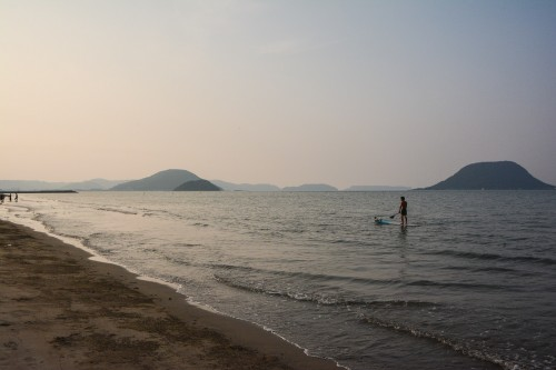 Stand up paddle experience at the higashihara beach, Karatsu, Saga.