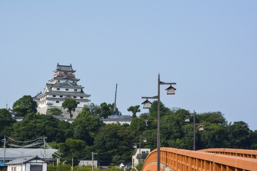 Jonai bridge and Karatsu castle in Saga prefecture, Kyushu.