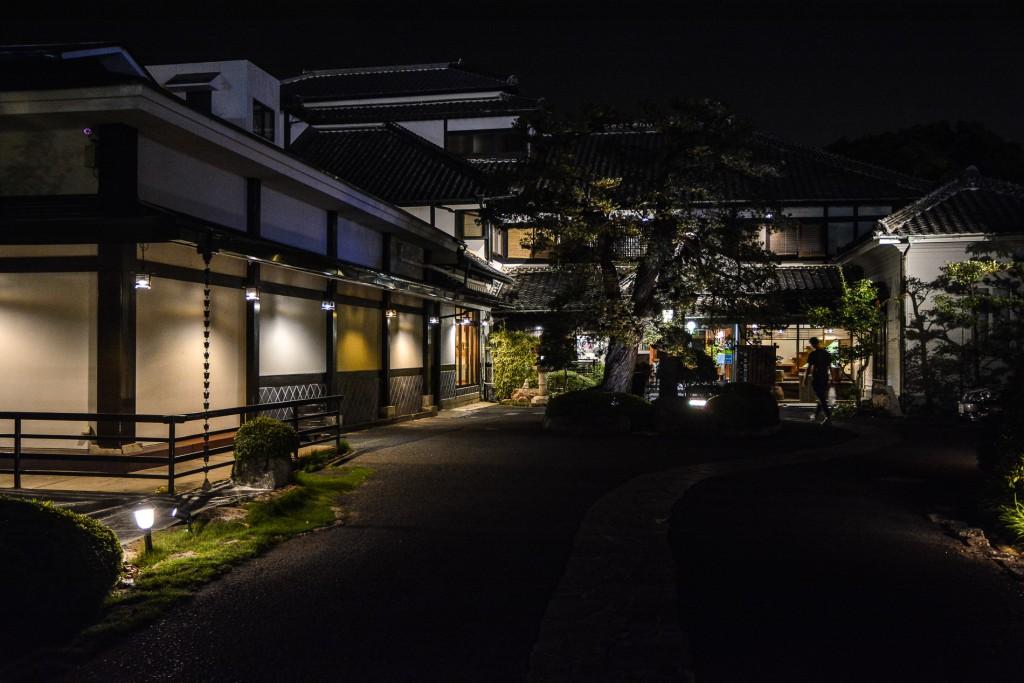 The ryokan in the night !