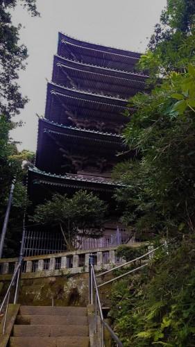 Ryuko-ji Temple and a Five Storied Pagoda is located near Enoshima and Kamakura