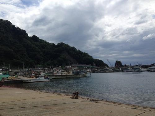 The fishing village at Murakami, Niigata prefecture, Japan.