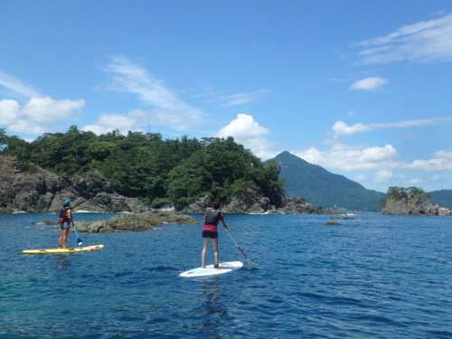 Paddle Boarding on the Beautiful Blue Sea, Fukui prefecture