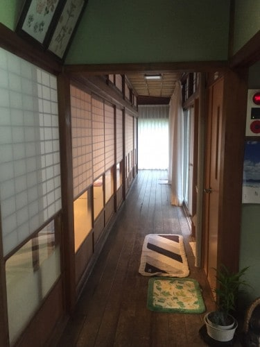 Wakashisou: Shoji Doors in Hallway, ,Wakasa Takahama, Fukui prefecture