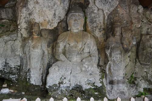 Usuki Buddha Statues at Usuki city, Oita prefecture, Kyushu, Japan.