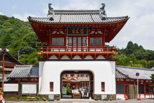 The Romon gate is the symbol of Takeo Onsen, Saga prefecture, Kyushu.