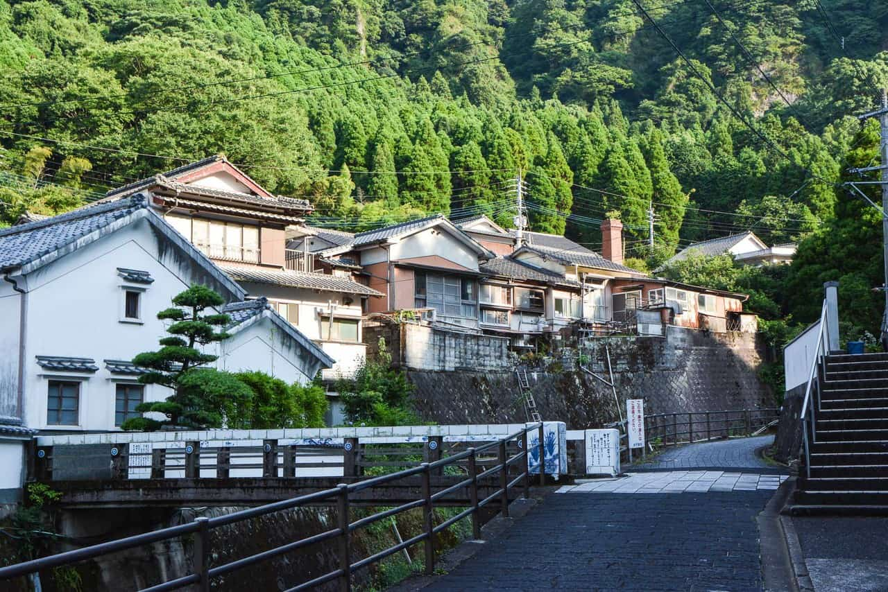 Japanese pottery and porcelain town in Imari, Japan