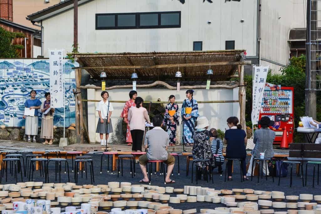traditional japanese summer festival in imari, japan