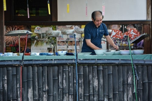 Festival Events - Playing the Ceramic Bowls