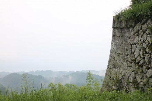 Oka castle ruins in Taketa, Oita prefecture, Kyushu, Japan.