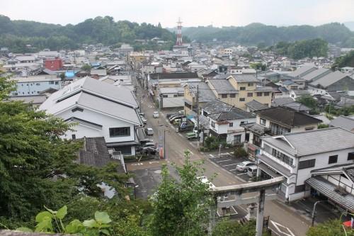 The view from Hirose shrine in Taketa, Oita prefecture, Kyushu, Japan.