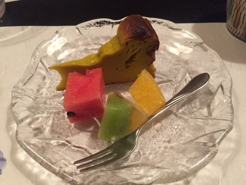 Pumpkin Pie and Fresh Fruit