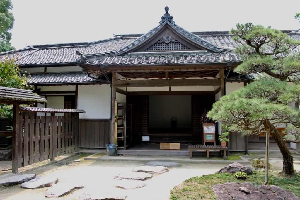 Entrance to Nomi-tei.Kitsuki is a castle town in the Oita Prefecture, Kyushu.