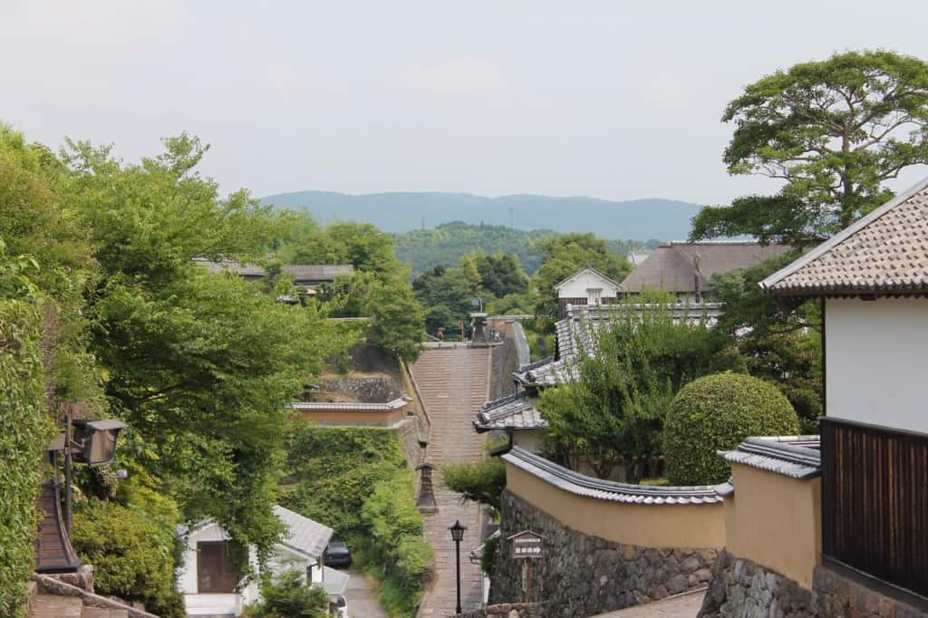 Downhill View Towards Kita-dai.Kitsuki is a castle town in the Oita Prefecture, Kyushu.