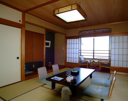 The Iwamotoro's room in Enoshima island, Kanagawa prefecture, Japan.