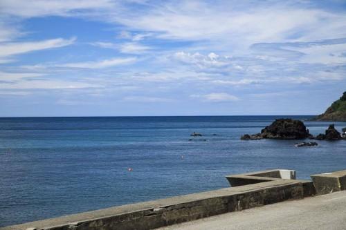 A beautiful coastline at Murakami, Niigata prefecture, Japan.
