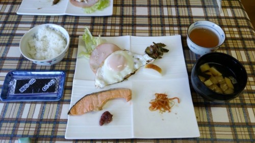 Breakfast meal at Ryokan in ,Wakasa Takahama, Fukui prefecture