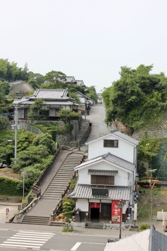 Stone Steps Leading to Kita-dai Samurai District.Kitsuki is a castle town in the Oita Prefecture, Kyushu.
