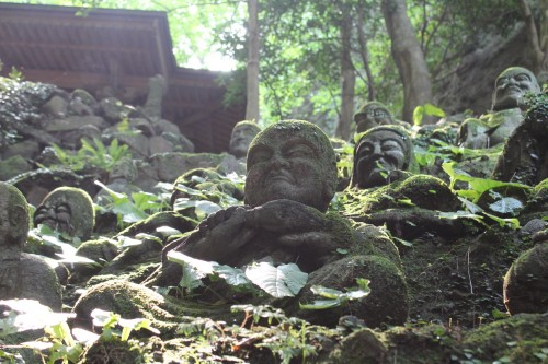 Statues at Monsen-ji Temple at Kunisaki peninsula, Oita prefecture, Japan.