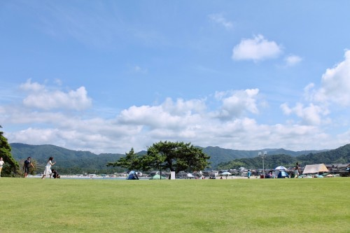 Shirayama Beach/Park: Camping and BBQ Areas