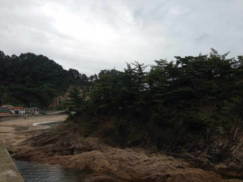 Part of Sasagawa Beach, Niigata prefecture, Japan.