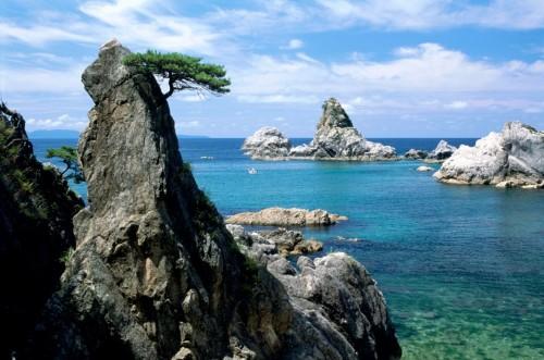 Sausagawa beach, a stunning coastline in Niigata prefecture, Japan.