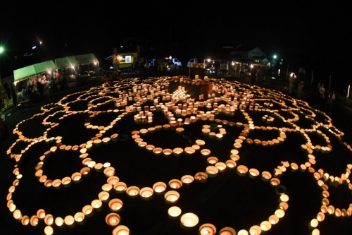 the lantern festival at Imari pottery village