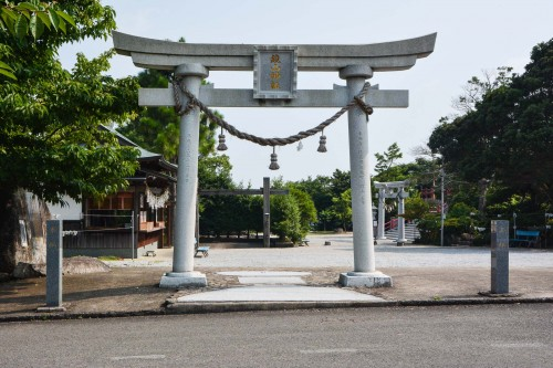 the torii gate of Kagamiyama shrine, Saga