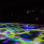 The Artistic illuminated Exhibition by Teamlab at the Mifuneyama Rakuen, Saga