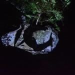 The Artistic illuminated Exhibition by Teamlab at the Mifuneyama Rakuen, Saga