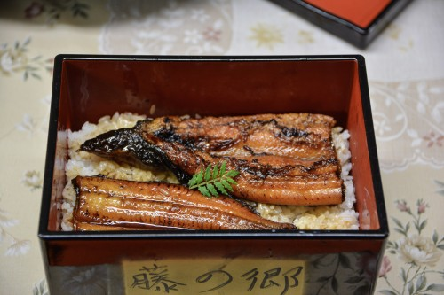 Grilled Eel for dinner at the guesthouse in Oita!