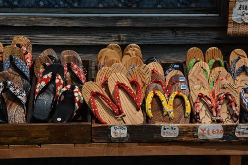 Hita Mameda Traditional Shoes, Hita city, Oita prefecture, Japan.